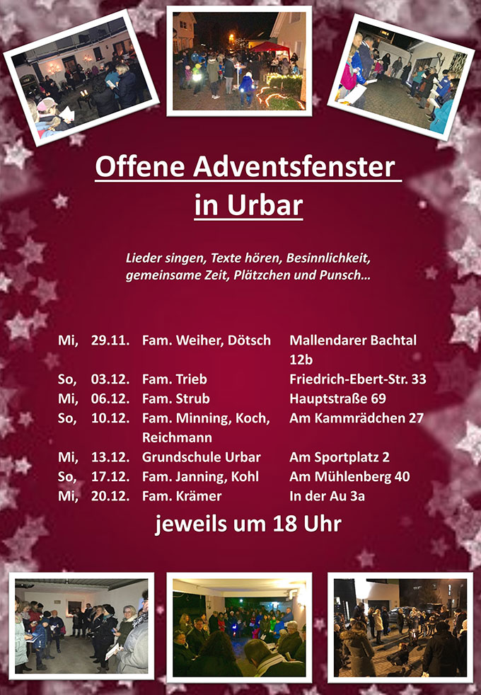 Plakat Offenes Adventsfenster